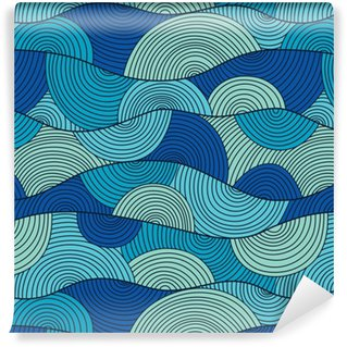 Vector seamless pattern with abstract waves Vinyl custom-made wallpaper