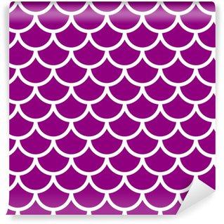 Violet seamless pattern Vinyl Custom-made Wallpaper