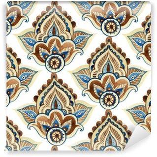 Watercolor indian ornament Vinyl Wallpaper