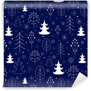 Winter forest background Vinyl Custom-made Wallpaper