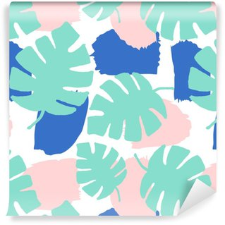 Abstract Leaves Pattern Washable Wallpaper