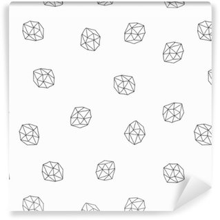 Abstract Polygons Seamless Pattern Washable Custom-made Wallpaper
