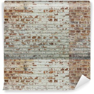 Background of old vintage dirty brick wall with peeling plaster Washable Custom-made Wallpaper