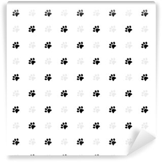 Cat paws prints Washable custom-made wallpaper