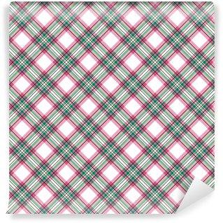 Checkered tartan plaid pattern Washable Custom-made Wallpaper