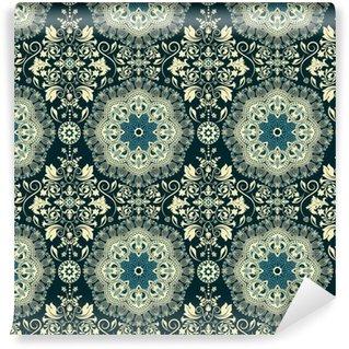 Damask seamless pattern Washable custom-made wallpaper