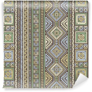 Ethnic Style Vector Seamless Pattern Washable custom-made wallpaper