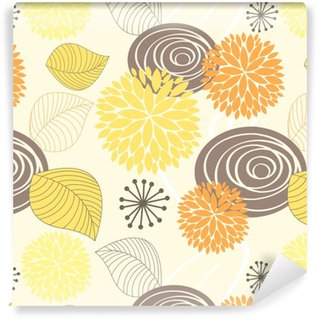 floral seamless patterns,floral background Washable Custom-made Wallpaper