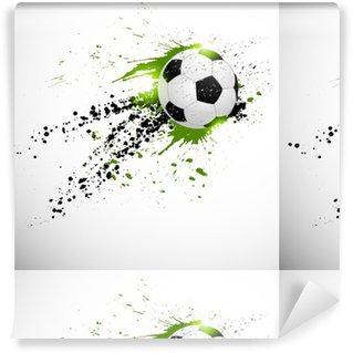 Flying soccer ball Washable Custom-made Wallpaper