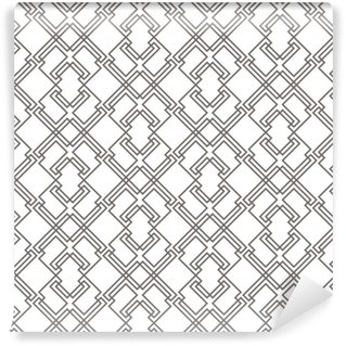 Geometric abstract seamless pattern. Linear motif background Washable custom-made wallpaper