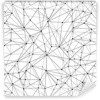Geometric Mesh Seamless Pattern Washable Custom-made Wallpaper
