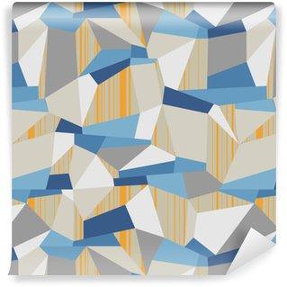 Geometrical Seamless Vector Polygon Pattern Washable custom-made wallpaper