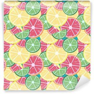 grapefruit lime lemon Washable custom-made wallpaper
