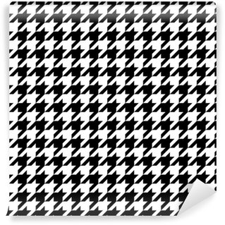 Houndstooth Pattern Washable Wallpaper