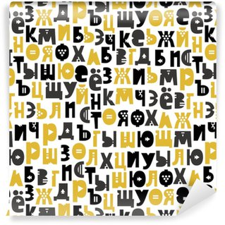 Pattern of the Russian alphabet Washable Custom-made Wallpaper