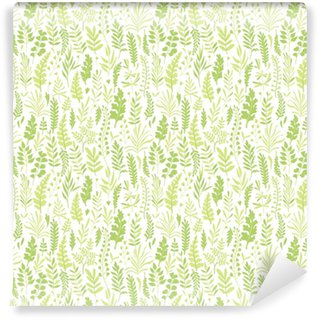 Pattern with leaves. Washable Custom-made Wallpaper