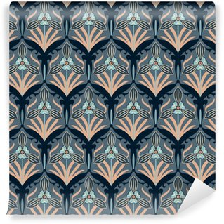 retro flowers Washable Custom-made Wallpaper