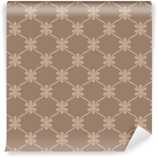 Seamless brown retro wallpaper background Washable Custom-made Wallpaper