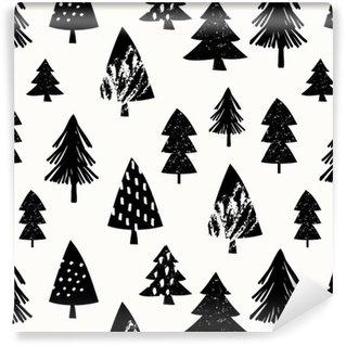 Seamless Christmas Pattern Washable Custom-made Wallpaper