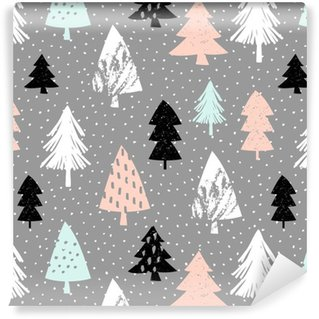Seamless Christmas Pattern Washable Custom-made Wallpaper