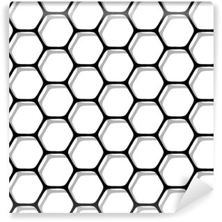 Seamless hexagons pattern. Washable custom-made wallpaper