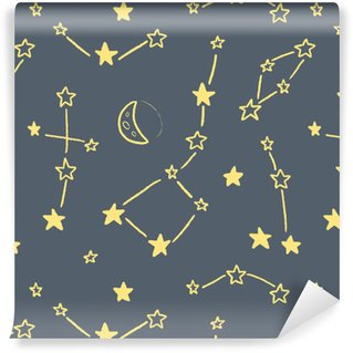Star constellation texture Washable custom-made wallpaper