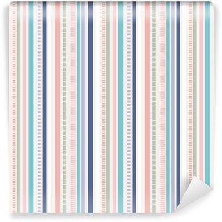Stripes Seamless pattern; pastel colors pattern. Washable Custom-made Wallpaper