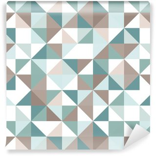 Triangle seamless pattern Washable Custom-made Wallpaper