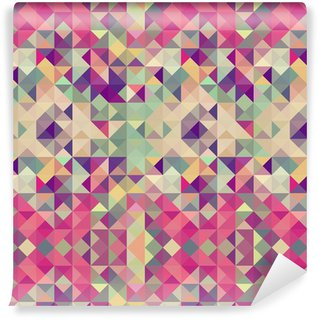 Vintage hipsters geometric pattern. Washable Wallpaper