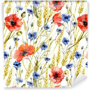 Wildflowers Washable Custom-made Wallpaper