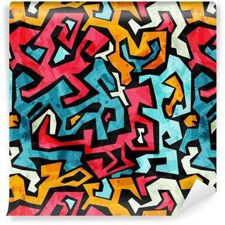 Grunge etkisi ile parlak grafiti sorunsuz desen