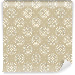 Zelfklevend behang, op maat gemaakt Behang barok, damast. beige en witte vectorachtergrond. vintage sieraad. achtergrond voor behang, afdrukken op het verpakkingspapier, textiel, tegels.