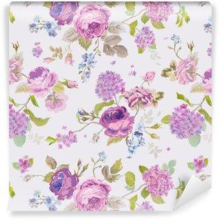 De lente bloeit achtergrond - naadloos Floral Shabby Chic Pattern