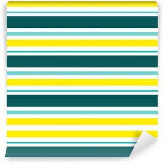 Zelfklevend behang, op maat gemaakt Gestreepte abstracte achtergrond met kleur strepen. vectorillustratie