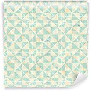 Zelfklevend behang, op maat gemaakt Naadloze geometrische patroon met origami elementen.