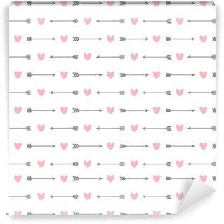 Naadloze patroon met pijlen en harten