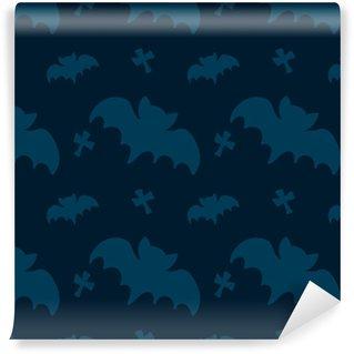 Zelfklevend behang, op maat gemaakt Naadloze patroon voor halloween