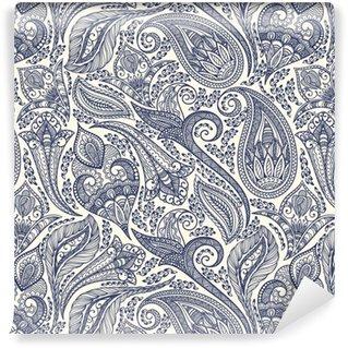 Zelfklevend behang, op maat gemaakt Paisley patroon