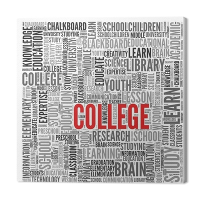 COLLEGE Canvas Print • Pixers® - We live to change