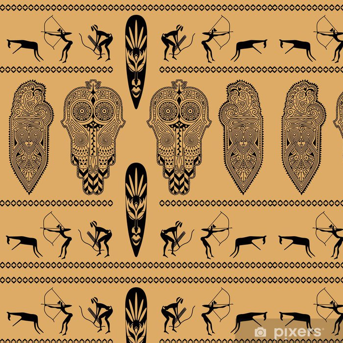Papel de Parede em Vinil African decorative pattern - África