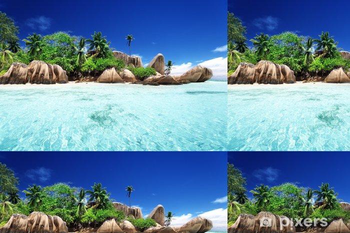 Papel de Parede em Vinil Anse Source d'Argent beach, La Digue island, Seyshelles - Água