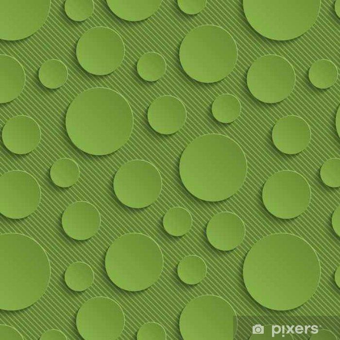 Papel de Parede em Vinil Círculos Verdura Seamless Pattern. - Recursos Gráficos