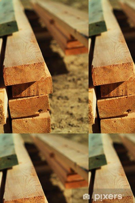 Papel de Parede em Vinil stack of lumber - Casa e Jardim