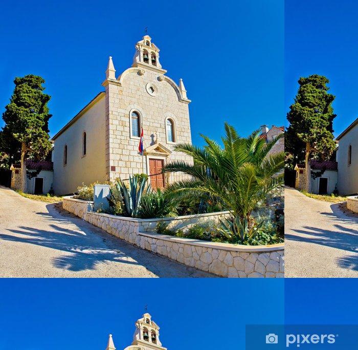 Papel de Parede em Vinil Town of Tribunj stone church - Europa