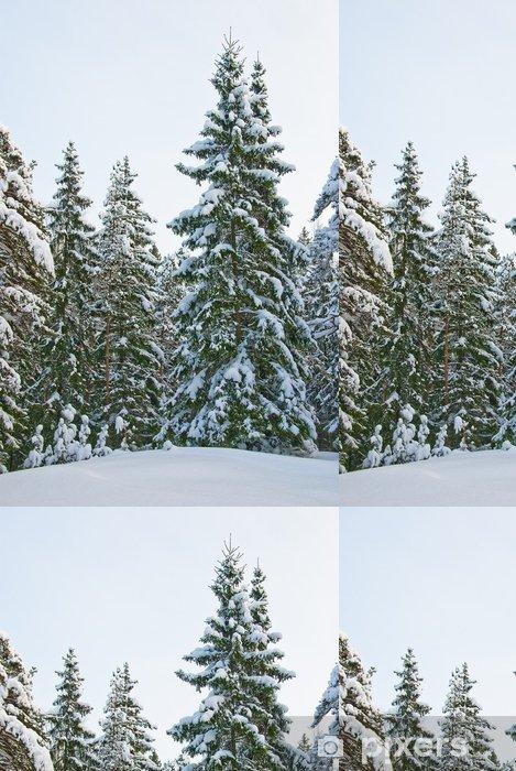Papel Pintado Estándar Bosque de invierno - Bosqes
