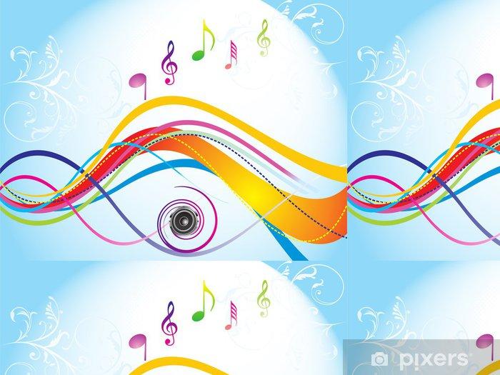 Papel Pintado Estándar De onda colorido con sonido - Fondos