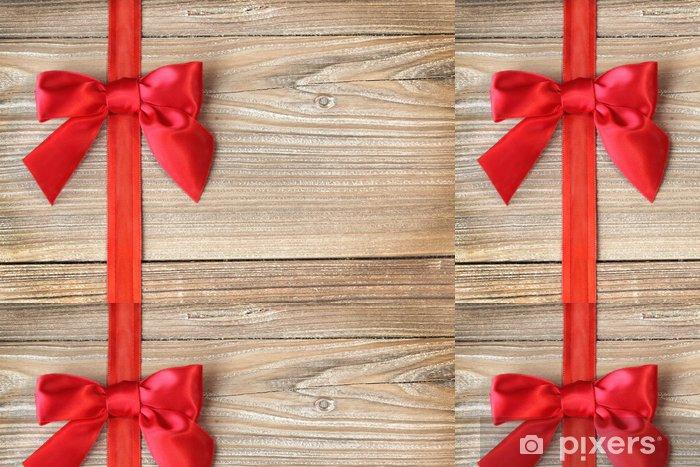 Papel Pintado Estándar Loop en rojo en la madera - Celebraciones internacionales