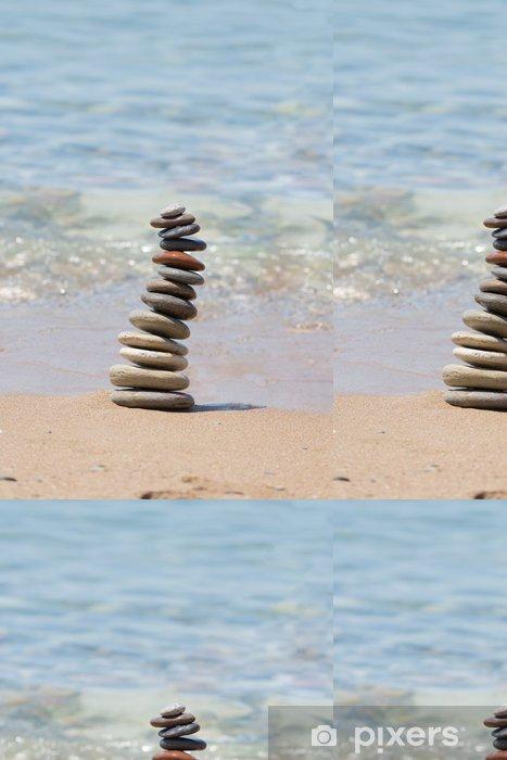 Papel Pintado Estándar Pila de piedras equilibradas - Religión