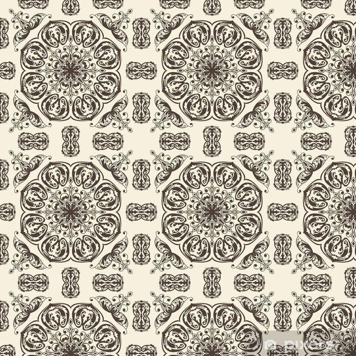 Papel Pintado Estándar Vector sin patrón floral de la vendimia - Fondos