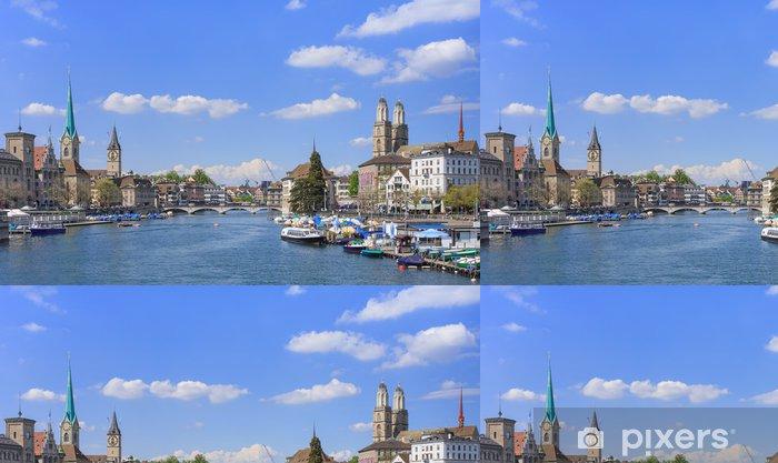 Papel Pintado Estándar Zurich cityscape - Urbano